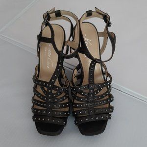 Kenneth Cole Reaction Studded Stacked Heel Sandals